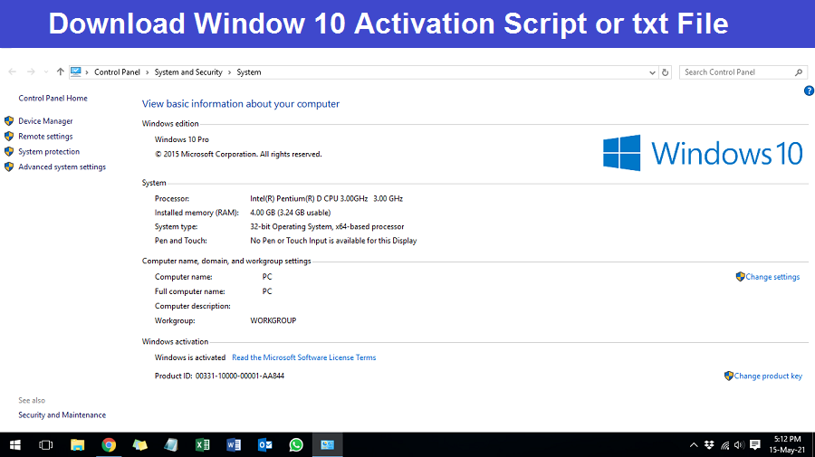 You are currently viewing Windows 10 Activation script txt Download – Best Activator for Window 10