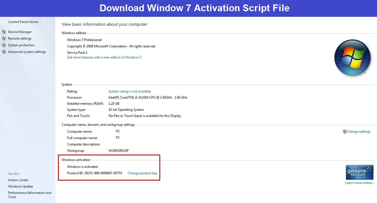 Read more about the article Window 7 Activation script txt Download – Best Activator for Window 7